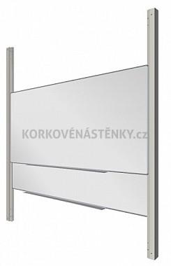 Zostava magnetické tabule MANAŽER K/PYLON AL 300 x 100 cm