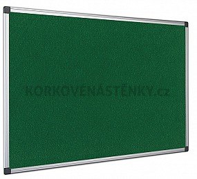 Textilná nástenka AL rám 150 x 100 cm (zelená)