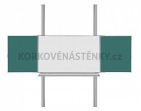 Magnetická tabuľa TRIPTYCH K/PYLON AL III. 200 x 120 cm