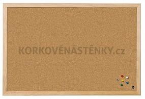 Korková nástěnka dřevěný rám Standard 40 x 30 cm