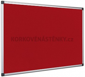 Textilná nástenka AL rám120 x 90 cm (červená)