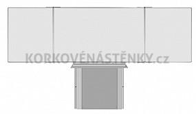 Zostava magnetické tabue TR K 200 x 120 cm