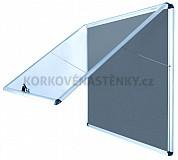 Nehorľavá textilná vitrína AL rám 924 x 953 mm (12xA4) - sivá
