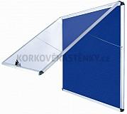 Nehorľavá textilná vitrína AL rám 924 x 953 mm (12xA4) - modrá