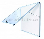Nehorľavá magnetická vitrína AL rám 706 x 653 mm (6xA4)