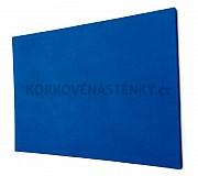 Textilní nástěnka bez rámu 120 x 90 cm (modrá)