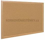 Korková nástenka drevený rám Exclusive 125 x 100 cm
