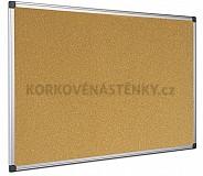 Korková nástěnka Al rám 120 x 90 cm