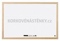 Magnetická tabule dřevěný rám 90 x 60 cm
