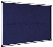 Textilná nástenka AL rám 90 x 60 cm (modrá)