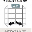 Magnetická vonkajšia vitrína Tradition V 1050 x 1400 mm - dvojkrídlová (18x A4)