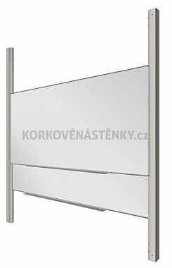 Sestava magnetické tabule MANAŽER K/PYLON AL 300 x 100 cm