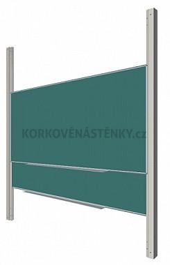 Sestava magnetické tabule ŠKOL K/PYLON AL 200 x 120 cm