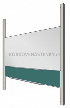 Sestava magnetické tabule MAN/ŠKOL K/PY AL 400 x 120 cm