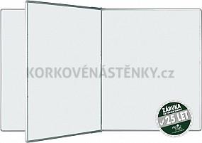 Magnetická tabule se středním křídlem PIVOT KB 200 x 120 cm