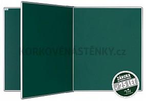 Magnetická tabule se středním křídlem PIVOT KZ 240 x 120 cm