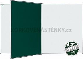 Magnetická tabule se středním křídlem PIVOT KZ/KB 200 x 120 cm