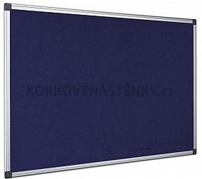 Textilná nástenka AL rám 180 x 90 cm (modrá)
