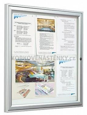 Magnetická vonkajšia vitrína Tradition V 750 x 550 mm - jednokrídlová (4x A4)