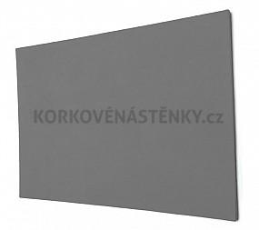 Nehořlavá textilní nástěnka bez rámu 90 x 60 cm (šedá)