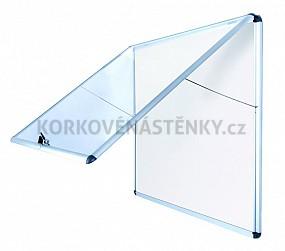 Nehořlavá magnetická vitrína AL rám 706 x 653 mm (6xA4)