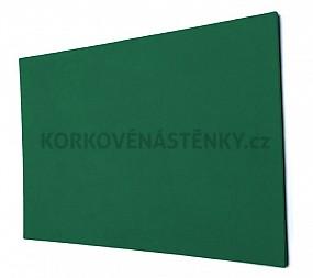 Textilní nástěnka bez rámu 90 x 60 cm (zelená)