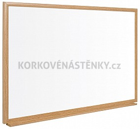 Nemagnetická tabule popisovací dřevěný rám 32 mm (90 x 60 cm)