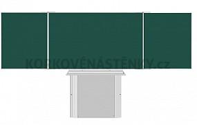 Magnetická tabuľa TRIPTYCH K I. 200 x 120 cm