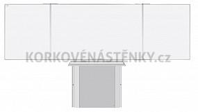Magnetická tabuľa TRIPTYCH K IV. 200 x 120 cm (pre projektory)
