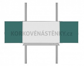 Magnetická tabule TRIPTYCH K/PYLON AL III. 200 x 120 cm