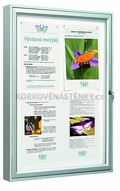 Magnetická venkovní vitrína Classic  V 750 x 750 mm - jednokřídlá (6x A4)