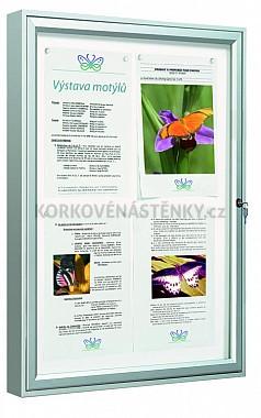 Magnetická vonkajšia vitrína Classic V 1350 x 750 mm - jednokrídlová (12x A4)