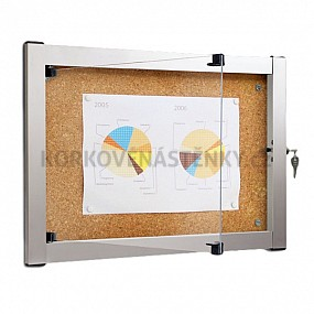Korková vnitřní vitrína Media V 679 x 512 mm (4x A4)