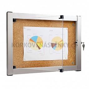Korková vnitřní vitrína Media V 976 x 772 mm (9x A4)