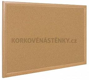 Korková nástěnka dřevěný rám Exclusive 125 x 100 cm