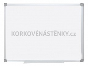 Magnetická tabule Al rám 150 x 100 cm s poličkou