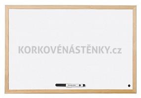 Magnetická tabuľa drevený rám 90 x 60 cm