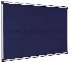 Textilní nástěnka AL rám 120 x 90 cm (modrá)