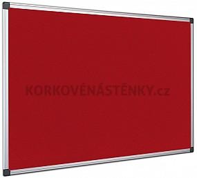 Textilní nástěnka AL rám 120 x 90 cm (červená)