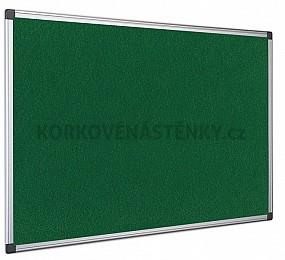 Textilná nástenka AL rám 90 x 60 cm (zelená)