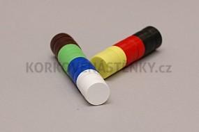 Magnety v plastu ø 18 mm - sada 21 ks