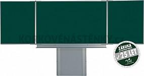 Magnetická tabuľa pre popis kriedou TRIPTYCH K 200 x 120 cm