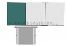 Sestava magnetické tabule TR K II. 200 x 120 cm