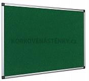 Textilní nástěnka AL rám 150 x 100 cm (zelená)