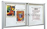 Magnetická venkovní vitrína Tradition V 1050 x 1400 mm - dvoukřídlá (18x A4)