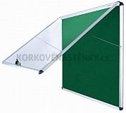 Nehorľavá textilná vitrína AL rám 706 x 653 mm (6xA4) - zelená