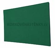 Textilná nástenka bez rámu 120 x 90 cm (zelená)