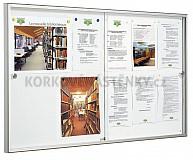 Magnetická vnitřní vitrína Reference V 750 x 1400 mm (12x A4)