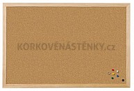 Korková nástěnka dřevěný rám Standard 60 x 40 cm
