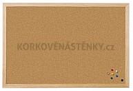 Korková nástěnka dřevěný rám Standard 80 x 60 cm